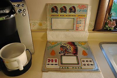 """Vintage 25 Cents """"Thunder Chief"""" Colored Slot Inserts"""
