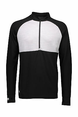 Mons Royale Checklist 1/2 Zip Geo Top Mens Unisex Thermal Base Layer Winter New