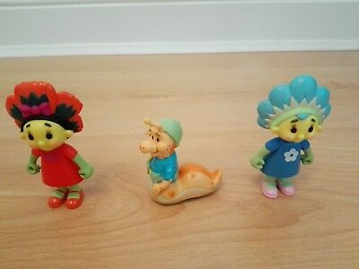 "3 Fifi and the Flowertots - Fifi, (3.5""), Poppy (3.5"") & Slugsy (2.25"") Figures"