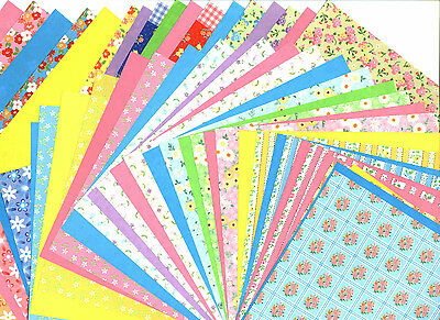 Double sided Origami Papers With Floral Patterns 15cm 30sheets