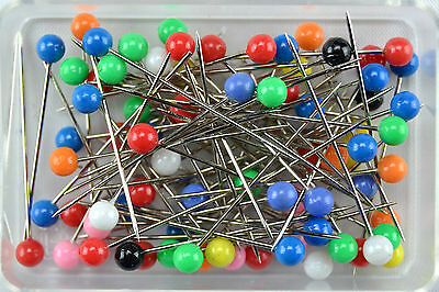 Pins 80 Piece Multi Colored Head Pins Plastic