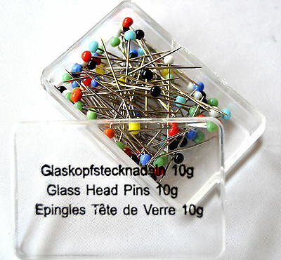 Glass head - Pins PIECE 9 - 10 g