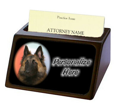 Belgian Tervuren    Pet Breed  Personalized Business Card Holder
