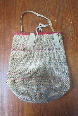 Native American Indian Jute Bag Antique
