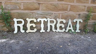 Vintage Style Reclaimed Salvage Shop Letters Circus Pub Sign RETREAT R E T R E A