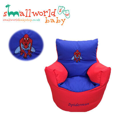 Personalised Spiderman Toddler Bean Bag Chair (NEXT DAY DISPATCH)