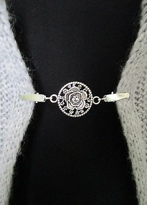 Cardigan, Sweater, Blouse, Shawl Clips/Clasps, Rose
