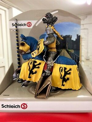 Schleich Tournament Knight on Horseback Blue and Yellow