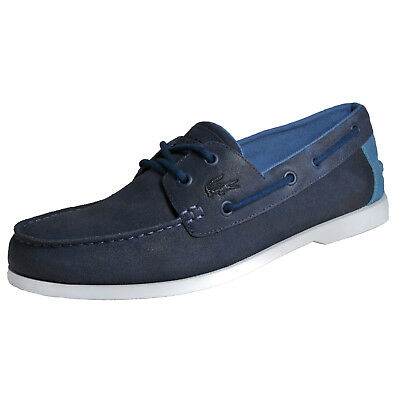 c9f59c16238b7e LACOSTE NAVIRE CASUAL 316 Mens Premium Leather Deck Shoes Navy B Grade UK 8  Only - EUR 40