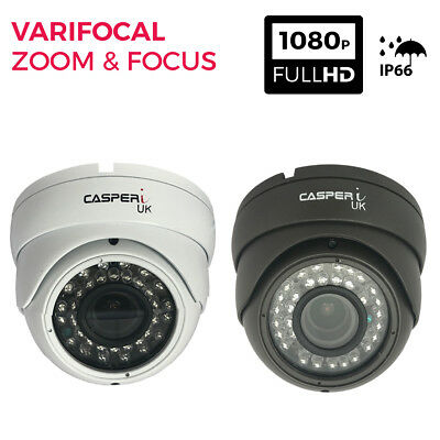 Full HD CCTV Metal Dome Camera VariFocal 2.8-12mm In/Outdoor 30M Wide Angle View