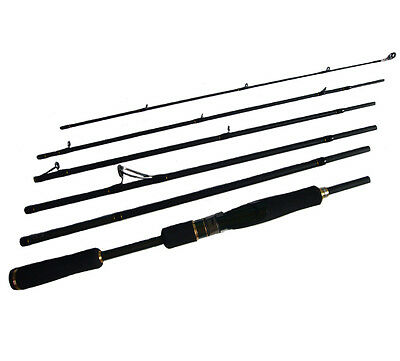 "6PC 8'2"" Graphite Lure Rod Extra Light Fishing Rod Spinning Rod Travel Rod"