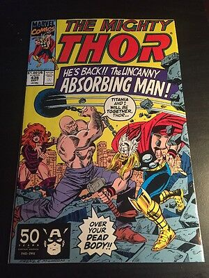 Mighty Thor#436 Incredible Condition 9.0(1991) Titania, Creel Battle, Frenz Art!