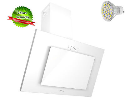 MAAN Cooker Hood Vertical 3S 60cm White glass! LED! THIS WEEK! Special!