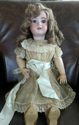 "Antique French DEP 12 Jumeau 24"" Bisque Girl Doll Signed Head and Body"