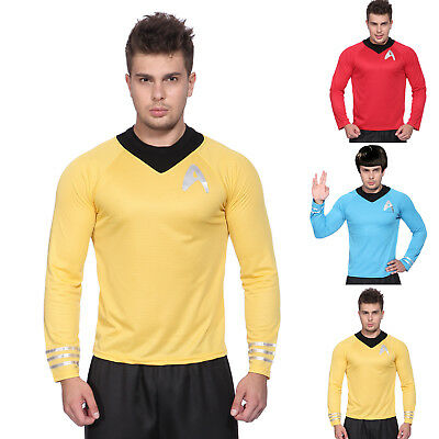 Erwachsene STAR TREK Langarm T-Shirt Kostüm Cosplay Uniform für Star Trek Fans