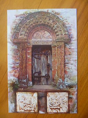 Postcard...kilpeck Church Herefordshire..norman Door & Carvings In Detail