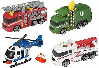 Teamsterz Sound Light Fire Engine Tow Garbage Truck Helicopter Kids Boy Toys