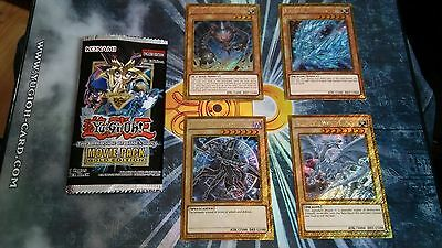 YU-GI-OH THE DARK SIDE OF DIMENSIONS Complete set of 4 Gold Secret Variant cards