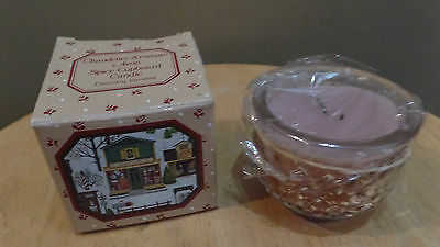 """Vintage Avon """"SPICE CUPBOARD"""" Country Vanilla CANDLE in Glass w Original BOX~NEW"""