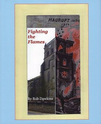 Fighting the Flames- Book created displaying ALL silk flames Postcards then-now.