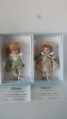 "Vogue Ginny 8"" To Grandma's House Sister & Brother Dolls In Org Box Ltd Ed"