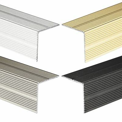 900mm x 35mm x 35mm ANODISED ALUMINIUM ANTI NON SLIP STAIR EDGE NOSING TRIM A34