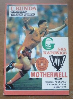 GKS Katowice v Motherwell, 1991/92 - Cup Winners Cup, 1st Round Match Programme