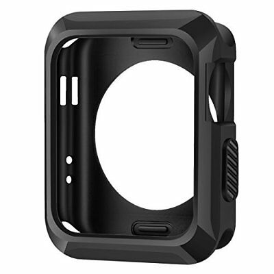 Apple Watch Case 38mm Series 3 Slim Rugged Protective TPU Cover Black for iWatch