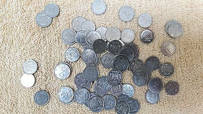 1 & 2 Ukrainian kopeck 50 coins! lot2 Now obsolete 1992 to 2012 stainless steel