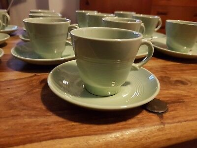 Woods Ware Beryl Demi Tasse Cup and Saucer 1940s Utility China Rare 13 available