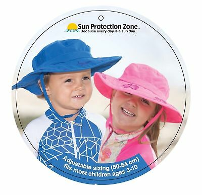 Sun Protection Zone Kids UPF 50+ Adjustable Child Safari Beach Park Picnic Hat
