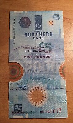 Northern Bank £5 Five Pound Polymer Note Old Plastic Rare