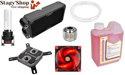 Thermaltake - Pacific RL240 Kit de watercooling PC (Waterblock x1 Pompe D5...