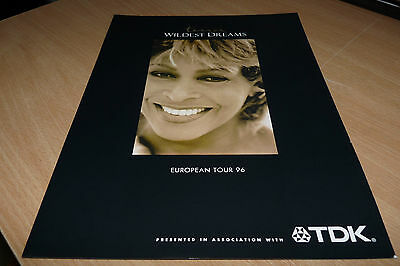 Tina Turner - 1996 European Tour Tdk Advert Hand-Out - Wildest Dreams Tour Mint