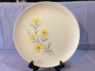 """Set/6 TAYLOR SMITH & TAYLOR Ever Yours 'Golden Button' 10-1/4"""" DINNER PLATES HTF"""