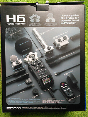 BRAND NEW Zoom H6 SixTrack Portable Handy Recorder w/ Interchangeable Mic 2GB SD