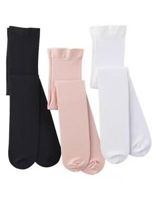 """6 Pair Cherokee Opaque Tights Size 2T/3T """"NEW"""" #A3"""