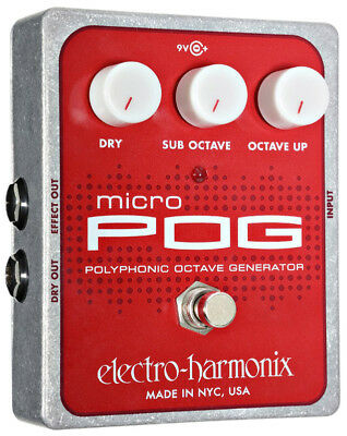 Electro Harmonix Micro POG Octave Guitar Effects Pedal (NEW)