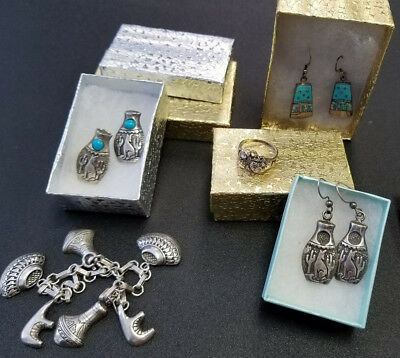 Lot of vintage sterling silver Native American jewelry - EXCELLENT condition!
