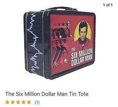 The Six Million Dollar Man Tin Tote              FREE SHIPPING