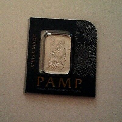 Platinum 1 Gram .999 Fine Bar Packaged and Certified by the Pamp Swisse Mint