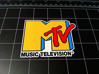 MTV Music Television Old School 80's 90's full color decal sticker Retro tv 80s