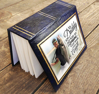 """Small personalised photo album book, 96 x 6x4"""" photos, In loving memory Daddy"""