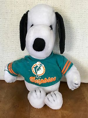 Rare Vintage 12 Inch 1968 Miami Dolphins Snoopy Plush Collectible
