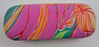 Lilly Pulitzer Eye Glasses Hard Shell Case Hot Pink Floral