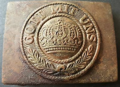 ✚7534✚ German Ww1 Prussian Belt Buckle Enlisted Men Non Comissioned Officer