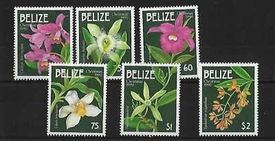 Belize Sg1092/7, 1990 Christmas Orchids Mnh