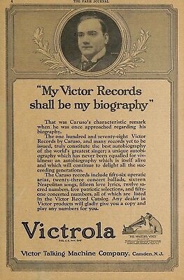 1922 Victor Victrola Talking Machine Phonograph Ad Advertisement Camden Nj
