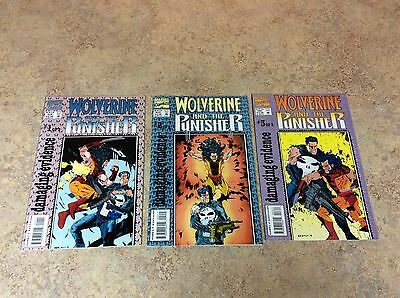 Wolverine And The Punisher #1,2,3 Of 3  Lot Of 3 Comic Nm 1993 Marvel