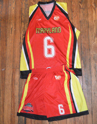 Maryland NATIONAL LACROSSE CLASSIC Uniform JERSEY Shorts LAX Ladies GIRLS